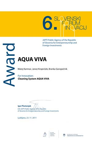 Inovation of the year aqua viva